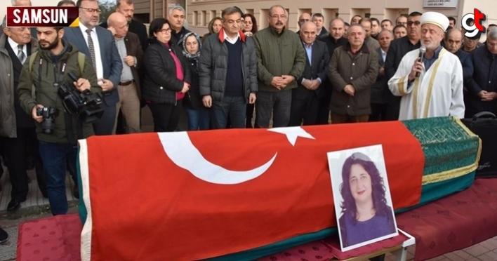 OMÜ Öğretim Görevlisi Proföser Emine Çoşkun'un cenazesi kaldırıldı