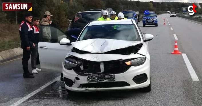 Samsun'da kaza, olay yerinde can verdi