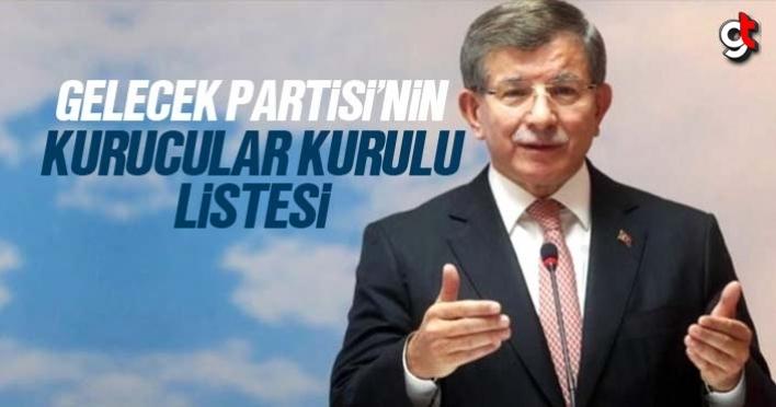 Ahmet Davutoğlu'nun Gelecek Partisi kurucular kurulu listesi