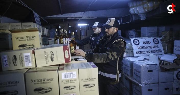 Ankara'da 10 bin 404 şişe sahte içki ele geçirildi