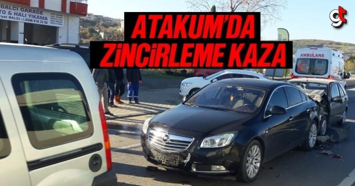 Atakum'da zincirleme trafik kazası