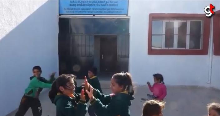 Barış Pınarı Müşrifet El Havi İlkokulunda çocuk sesleri