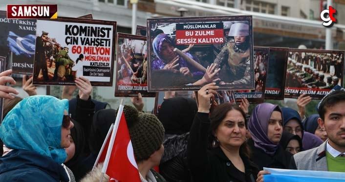 Çin'in Doğu Türkistan zulmüne Samsun'dan tepki