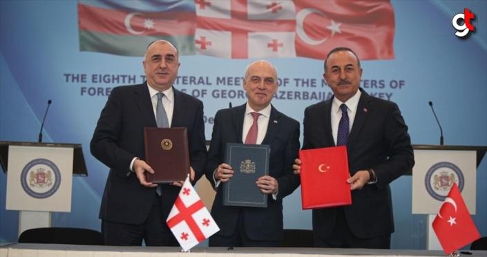 Dışişleri Bakanı Çavuşoğlu: Gürcistan ve Azerbaycan ile mükemmel ilişkilerimiz var