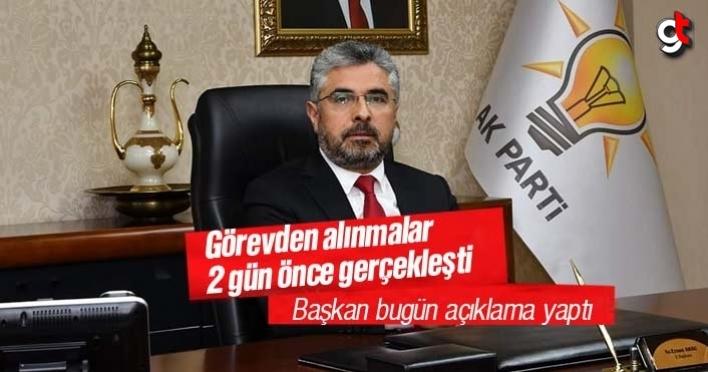Ersan Aksu, 4 ilçe başkanının görevden alındığını duyurdu