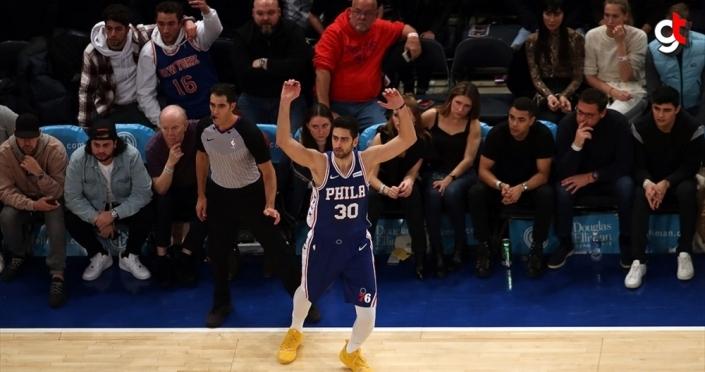 Furkan Korkmaz'ın kariyer rekoru kırdığı maçta Philadelphia 76ers kazandı