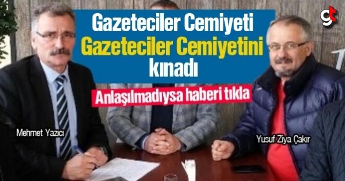 Gazeticiler Cemiyeti, Gazeteciler Cemiyetini kınadı