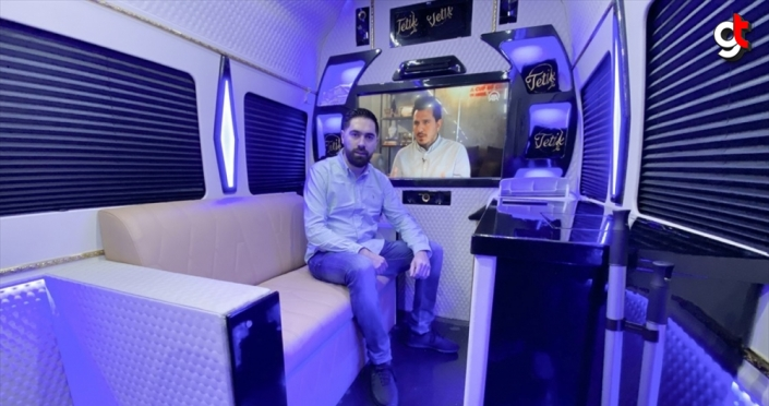 Hollanda'da Türk kuaför, minibüsüyle tüm Avrupa'ya 'seyyar berber' hizmeti sunuyor