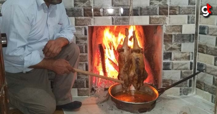 Odun ateşinde pişirilmiş kaz tiridi lezzeti