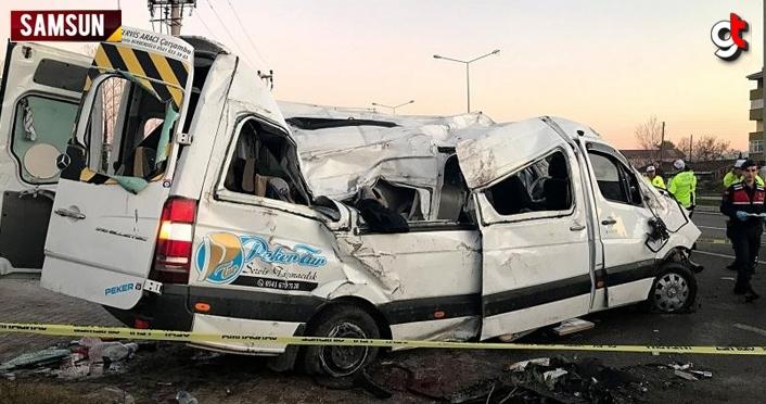 Samsun'da öğrenci servisinin devrildiği kazaya karışan 2 sürücü tutuklandı