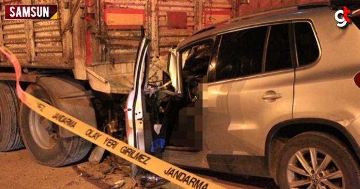 Samsun'da otomobil tır dorsesine çarptı: Erol Koçan öldü