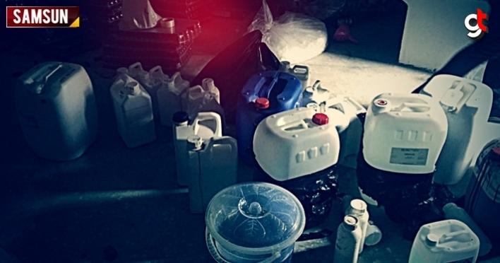 Samsun'da sahte içki imalathanesine baskın