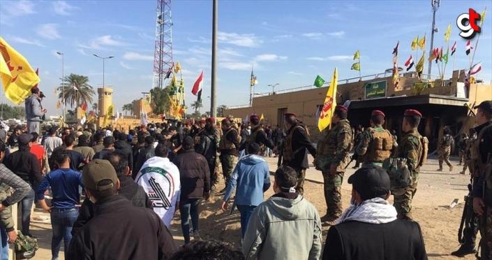 Haşdi Şabi milislerini ABD'nin Bağdat Büyükelçiliği önünden çekilmeye çağırdı