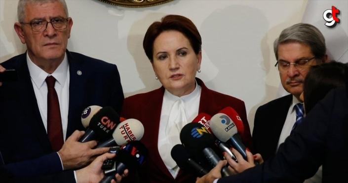 İYİ Parti Genel Başkanı Akşener: Tezkereye 'hayır' oyu verme kararı aldık
