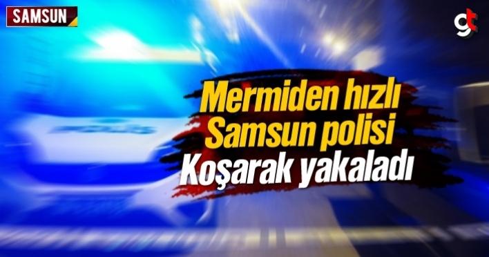 Mermiden hızlı Samsun polisi
