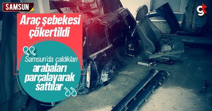 Samsun'da çaldıkları araçları parçalayarak satan şebeke çökertildi