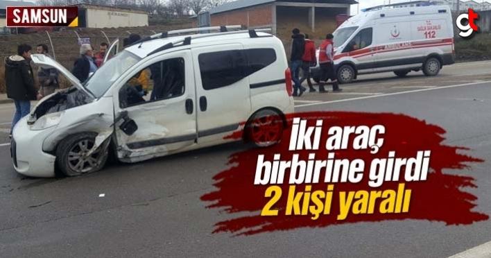 Samsun Vezirköprü'de iki araç çarpıştı