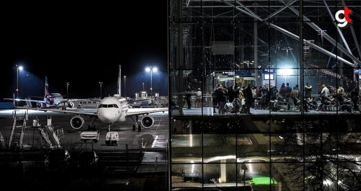 Almanya'da Sabine kasırgası nedeniyle birçok uçuş iptal edildi