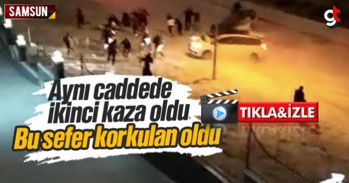 Bu sefer korkulan oldu, Atakum'da aynı yolda ikinci kaza