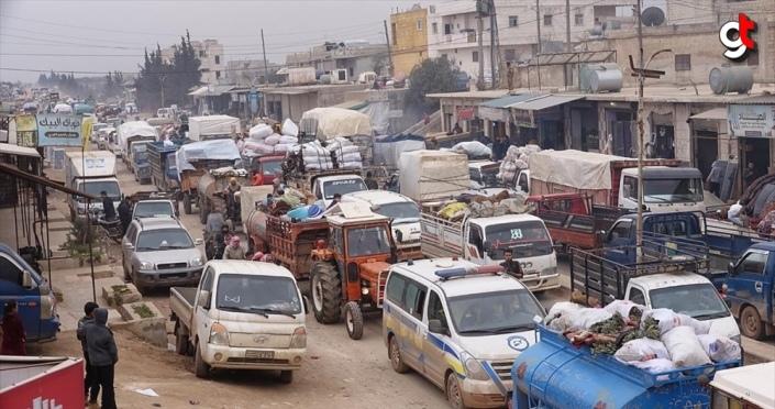 İdlib'de 2 günde 40 bin sivil daha yerinden edildi