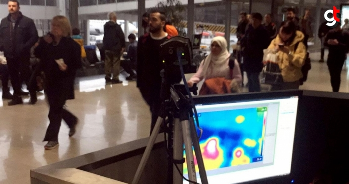İSG'de ülkeye giren yolcular termal kameralarla kontrol ediliyor
