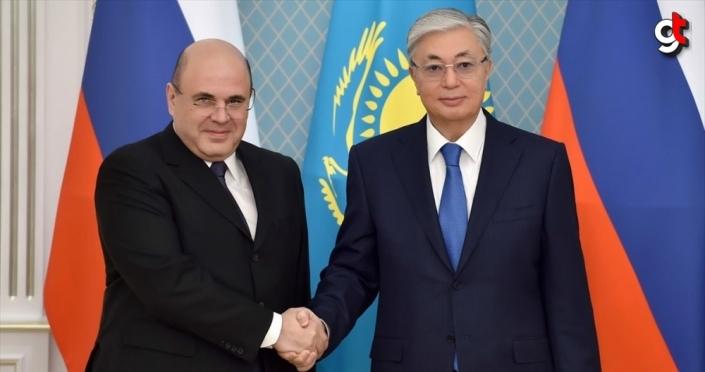 Kazakistan Cumhurbaşkanı Tokayev, Rusya Başbakanı Mişustin ile görüştü