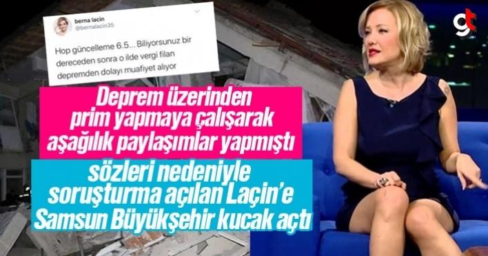 Samsun Büyükşehir Belediyesi, Berna Laçin'e kucak açtı