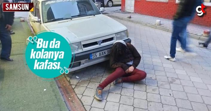 Samsun'da kolanya içen kadın komaya girdi