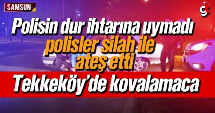 Samsun'da polisin dur ihtarına uymayan zanlılara polis ateş etti