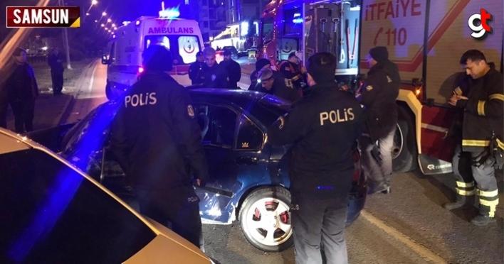 Samsun'da trafik kazası, 5 yaralı
