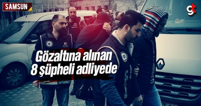 Samsunda gözaltına alınan polisler adliyeye sevk edildi