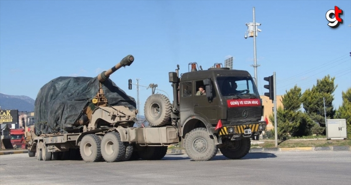 Sınır birliklerine obüs ve zırhlı araç sevkiyatı