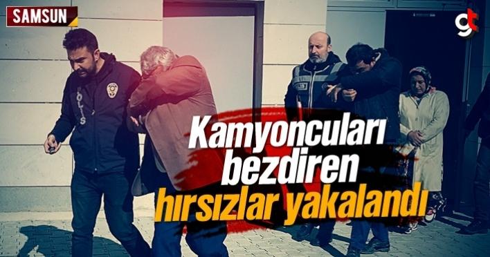 Tekkeköy'de kamyoncuları bezdiren hırsızlar yakalandı