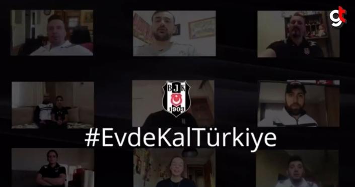Beşiktaşlı sporculardan ve Antalyasporlu futbolculardan 'evde kal' çağrısı