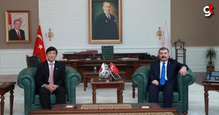 Sağlık Bakanı Koca, Japonya'nın Ankara Büyükelçisi ile koronavirüsü görüştü