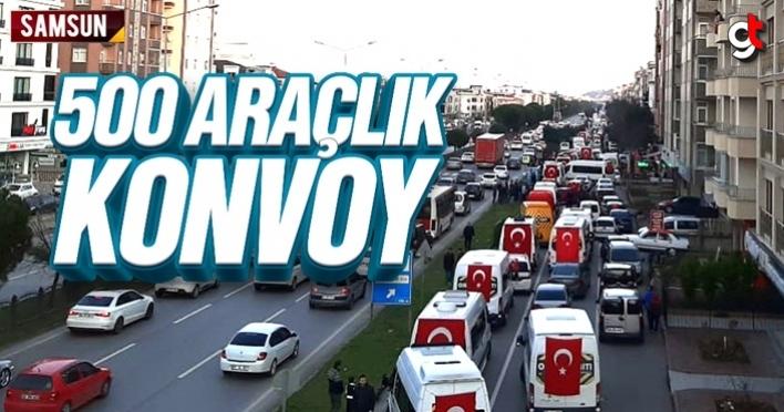 Samsun'da 500 araçlık konvoy