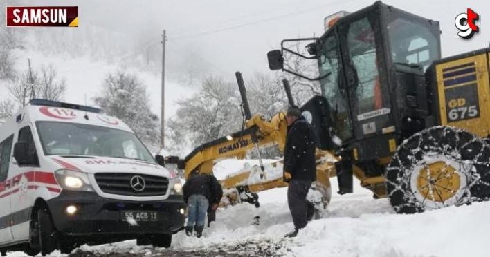 Tekkeköy Belediyesi Karla Mücadele Ekipleri Hastalar İçin Seferber Oldu