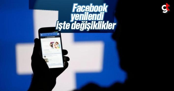 Facebook yenilendi, sayfa tasarımı değişti, yeni güncelleme yapıldı