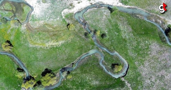 'Akdeniz'in Sibiryası'ndaki menderesler görsel şölen sunuyor