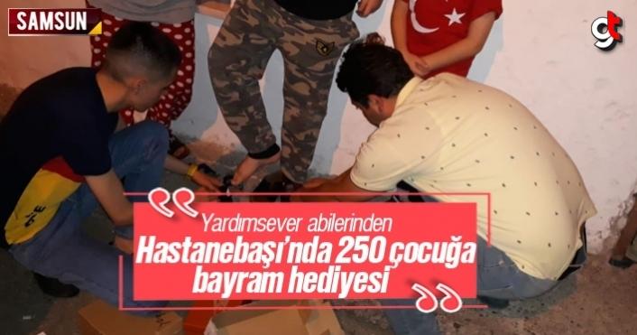 Hastanebaşı'nda 250 çocuğa bayramlık kıyafet dağıttılar