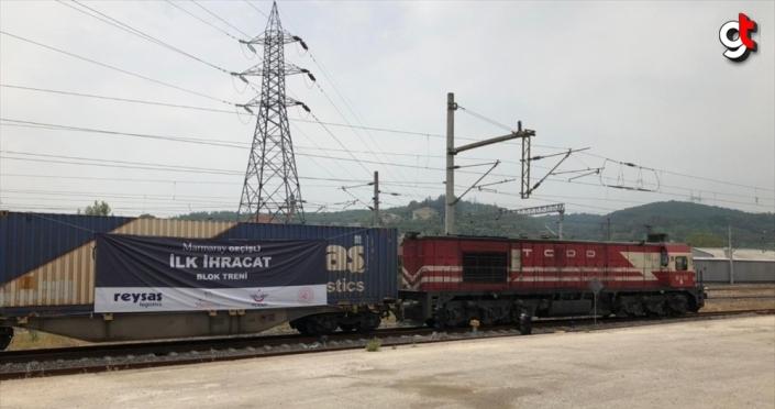 Özel sektörün ilk ihracat blok treni yola çıkıyor