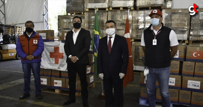 TİKA'dan Brezilya Kızılhaç'ına yardım