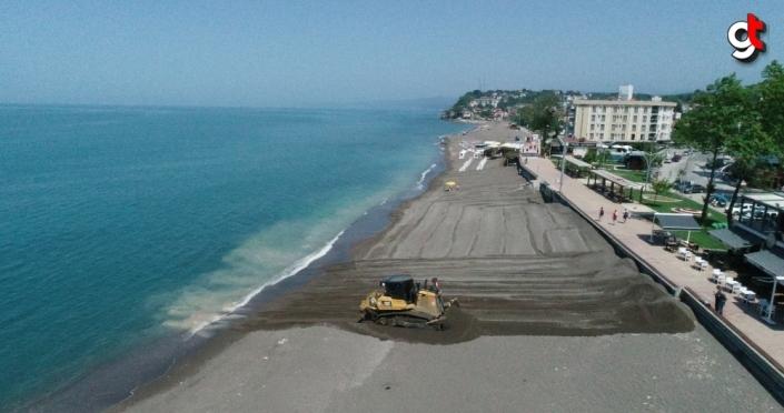 Akçakoca'da plajlar yaz sezonuna hazırlanıyor
