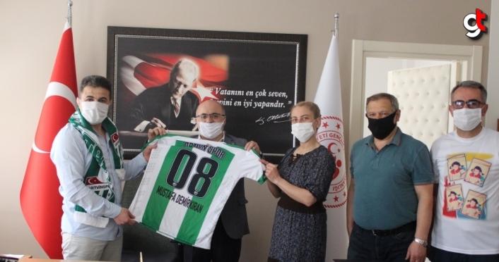 Artvinspor Kulübünden Gençlik ve Spor Müdürü Demirkıran'a ziyaret