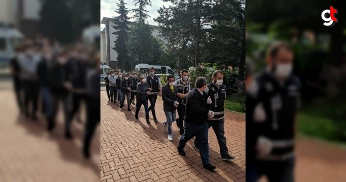 Bartın'da uyuşturucu operasyonunda gözaltına alınan 12 şüpheli tutuklandı