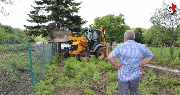 Bolu yaylalarındaki kaçak bahçe çitleri yıkılıyor