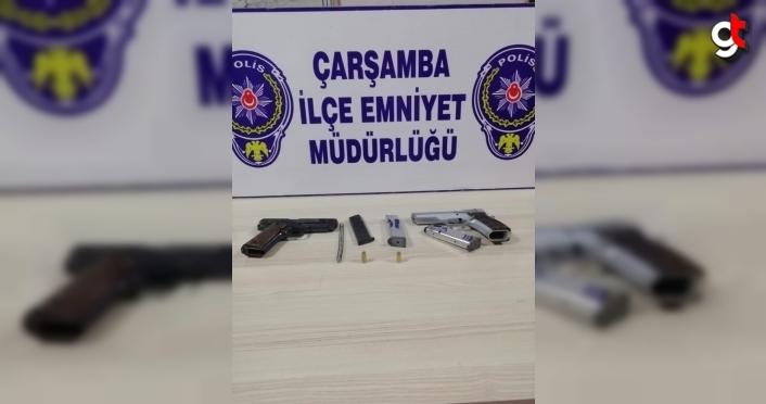 Çarşamba'da otomobilde ruhsatsız silah bulundu