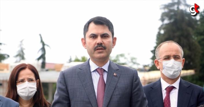 Çevre ve Şehircilik Bakanı Kurum, Trabzon'da incelemelerde bulundu: (1)