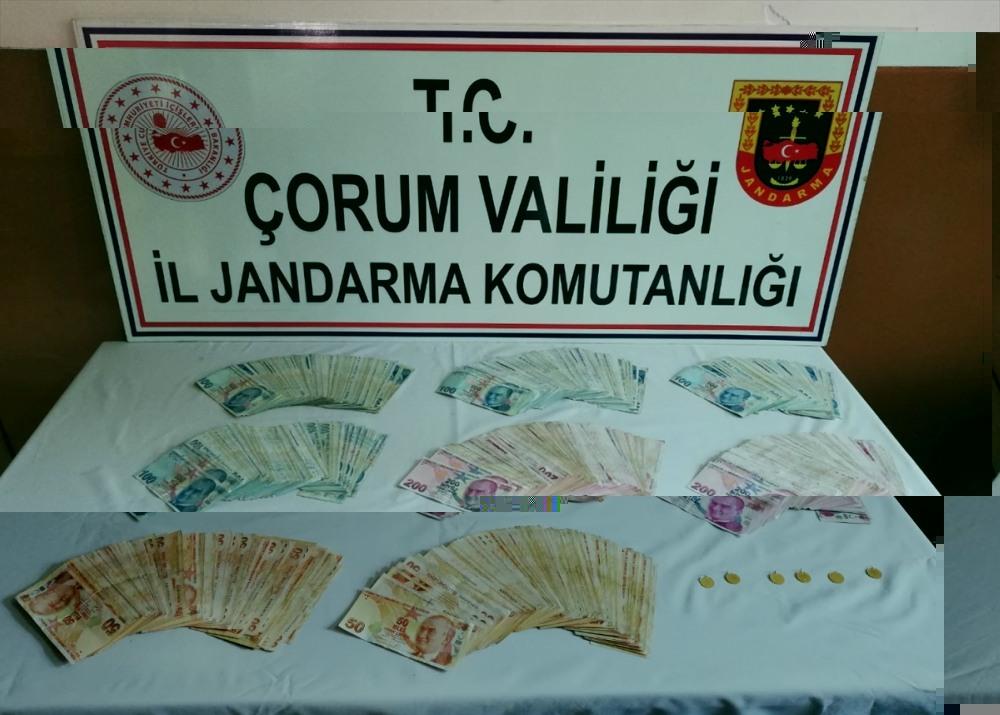 Çorum'da 75 yaşındaki kadının 90 bin lirası ile altınlarını çalan şüpheli yakalandı