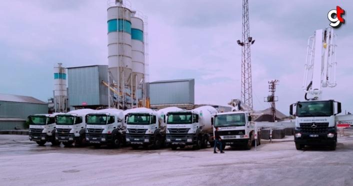 Düzce Belediyesinde beton santrali üretim tesisine araç takviyesi
